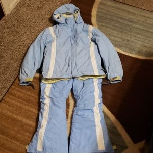 Girls 7/8  Land's End winter coat with snow pants